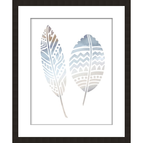 Water Colour Stencil Feather 20