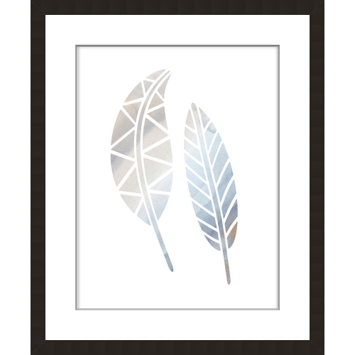 Water Colour Stencil Feather 21
