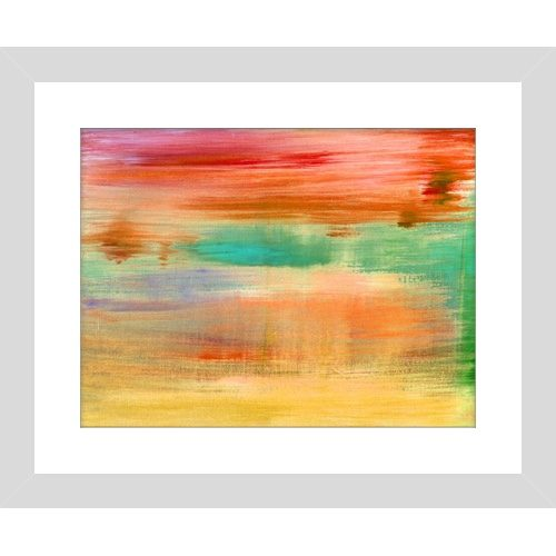 Abstract Water Colour Orange