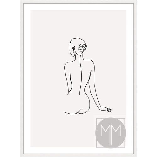 Female No 4 White Frame